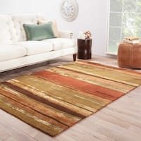 "Pinnacle Handmade Abstract Multicolor Area Rug (9'6"" X 13'6"")"