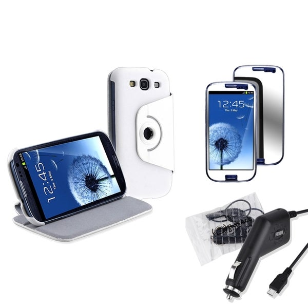 BasAcc Case/ Screen Protector/ Car Charger for Samsung Galaxy S3 S III