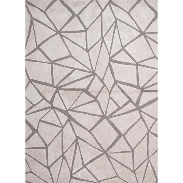 Modern Geometric Tufted Rug (2' x 3')