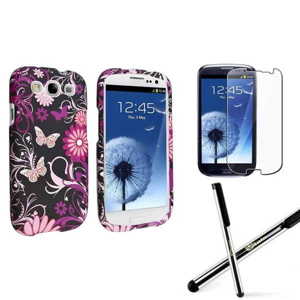 INSTEN Phone Case Cover/ Screen Protector/ Stylus for Samsung Galaxy S3 S III