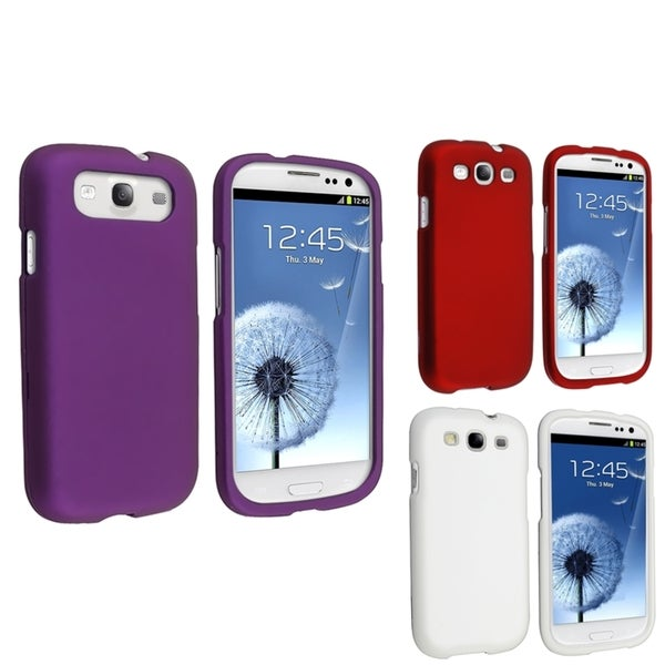 BasAcc White Case/ Red Case/ Purple Case for Samsung Galaxy S III/ S3