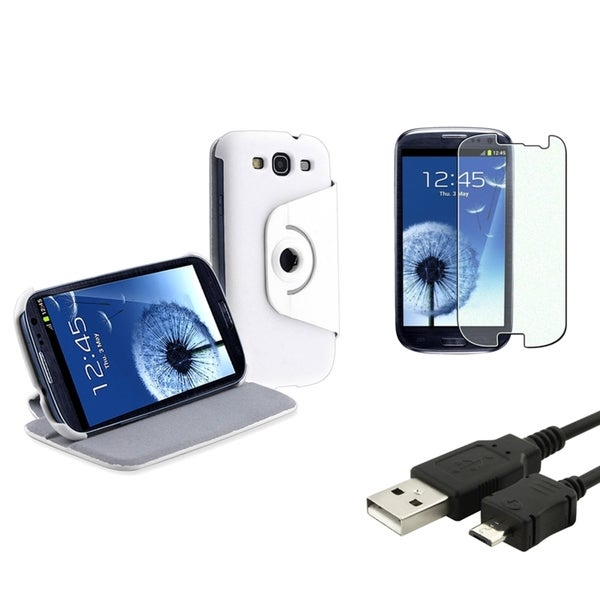 BasAcc Case/ Diamond LCD Protector/ Cable for Samsung Galaxy S3 S III