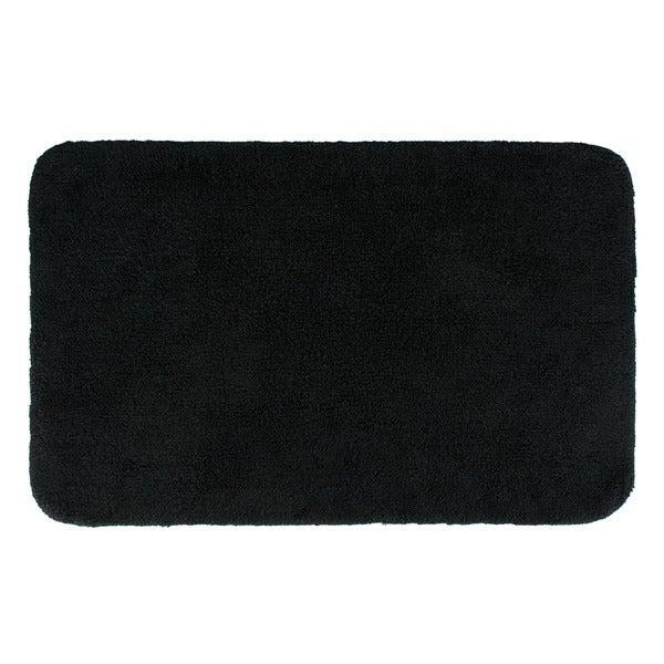 superb Black Bathroom Rug Sets Part - 12: Sherry Kline Solid Black 21 x 34 Bath Rug (Set of 2)