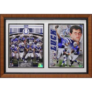 Indianapolis Colts Andrew Luck Custom Double Print Frame (12 x 18)