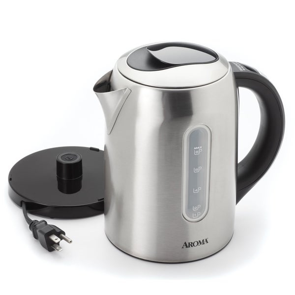 Aroma Stainless Steel 6-cup Digital Electric Kettle