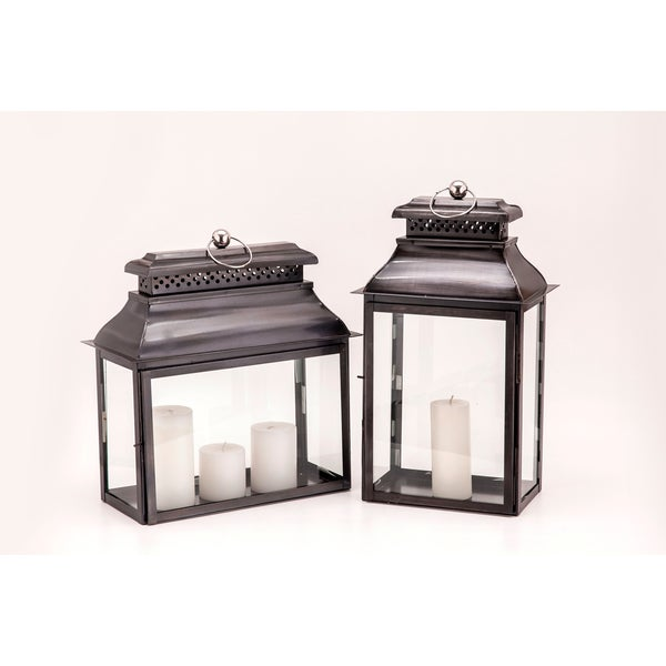 Horizon Colonial Rectangular Black Zinc Lantern