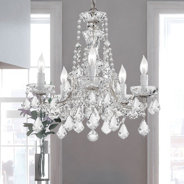 Crystorama Maria Theresa Collection 5-light Polished Chrome Chandelier