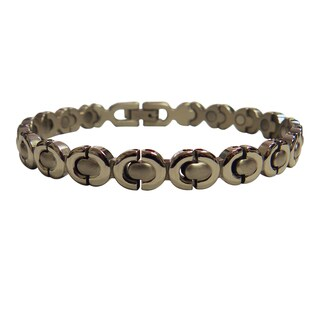 Magnetic Bracelet Silver Ribbon Design