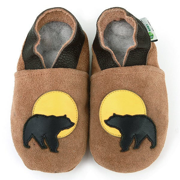 Bear Soft Sole Leather Baby Shoes