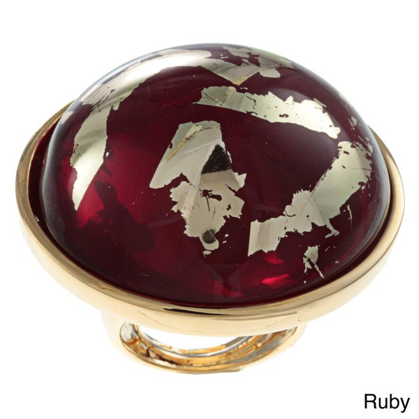Kenneth Jay Lane Jewel Tone Button Ring