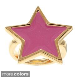 Kenneth Jay Lane Goldtone Star Ring