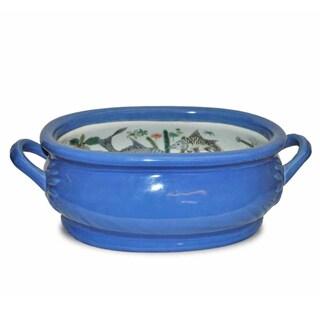 Blue Porcelain Foot Bath