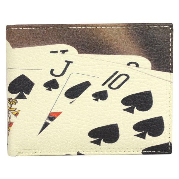 Unico Men's Leather Poker Pattern Wallet