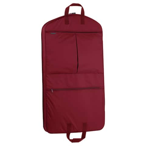 """WallyBags 40-inch Garment Bag with Pockets - 40""""x22""""x3"""""""
