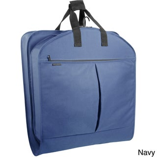 WallyBags 40-inch Garment Bag with Pockets (Option: Navy)