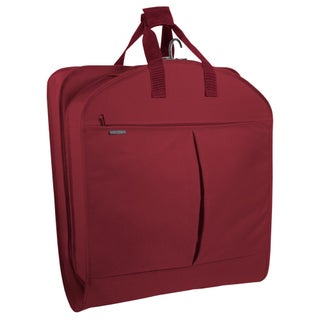 WallyBags 40-inch Garment Bag with Pockets (Option: Red)