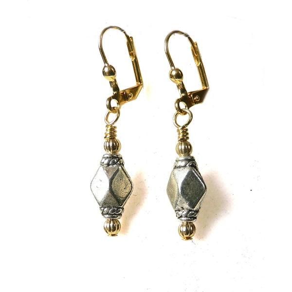 'Michelle' Metal Dangle Earrings
