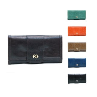 Anais Gvani Women's Leather Gold Logo Wallet