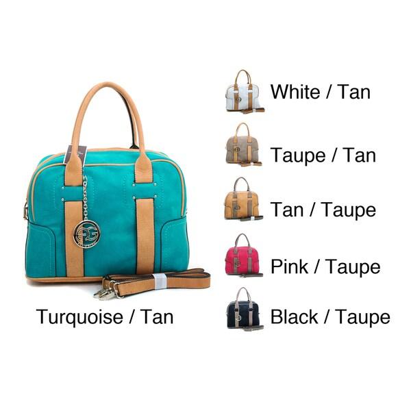 Anais Gvani Women's Two-toned Box Satchel Handbag