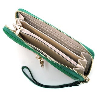 Anais Gvani Women's Quilted Two-Tone Wristlet Wallet
