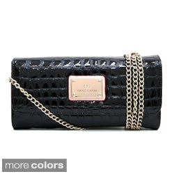 Anais Gvani Women's Embossed Reptile Skin Style Clutch Wallet