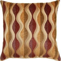 Pipeline Harvest Multi Rayon-blend Mid-century Geometric 17-inch Square Accent Throw Pillows (Set of 2)