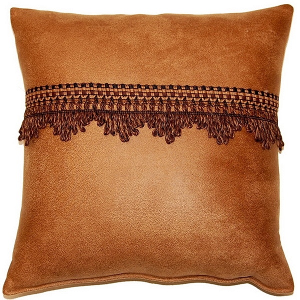 Corbin Saddle 17-inch Trimmed Throw Pillows (Set of 2)