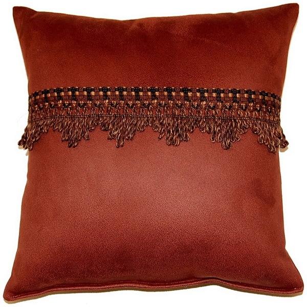 Corbin Cognac 17-inch Trimmed Throw Pillows (Set of 2)