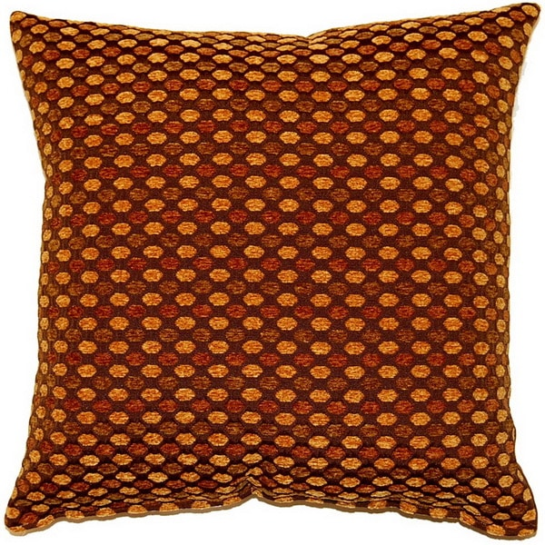 Dotty Bronze 17-inch Throw Pillows (Set of 2)