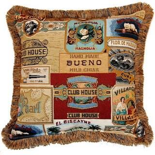 Havana Multi 17-inch Fringe Pillows (Set of 2)