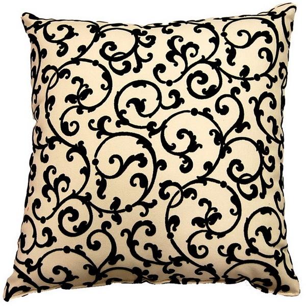 Julia Ebony 17-inch Throw Pillows (Set of 2)