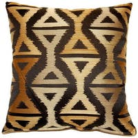 Lush Black 17-inch Throw Pillows (Set of 2)