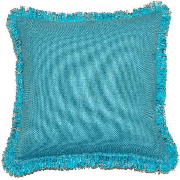 Princeton Blue 17-inch Fringed Pillows (Set of 2)