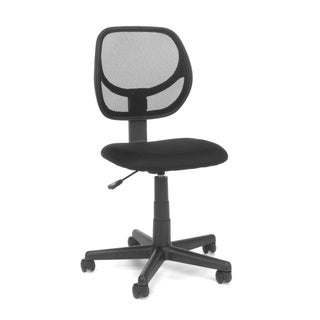 Essentials by OFM E1009 Armless Mesh Back and Fabric Task Chair