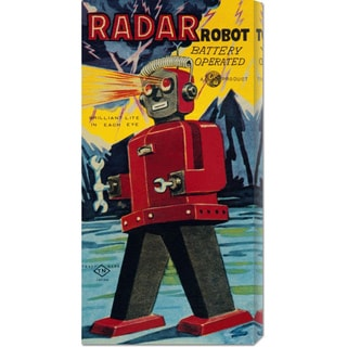Global Gallery Retrobot 'Radar Robot' Stretched Canvas Art