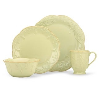 Lenox French Perle Pistachio 4 Piece Place Setting (Service for 1)  sc 1 st  Overstock & Shop Lenox Ice Blue French Perle 4-piece Dinnerware Set - Free ...