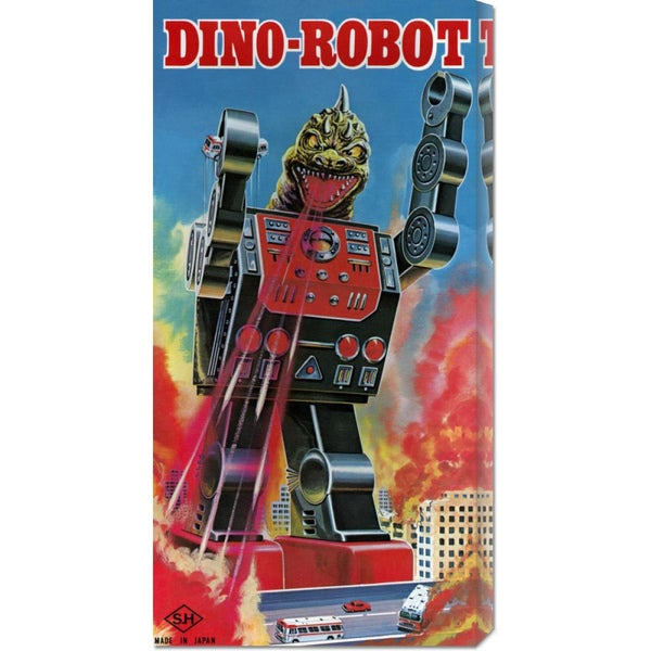 Big Canvas Co. Retrobot 'Dino-Robot' Stretched Canvas Art