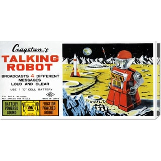 Global Gallery Retrobot 'Cragstan Talking Robot' Stretched Canvas Art