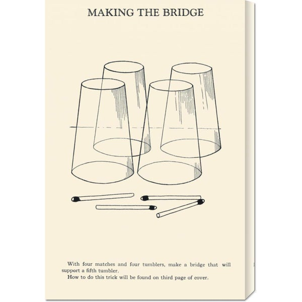 Global Gallery Retromagic 'Making the Bridge' Stretched Canvas Art