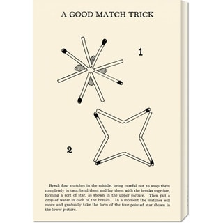 Global Gallery Retromagic 'A Good Match Trick' Stretched Canvas Art