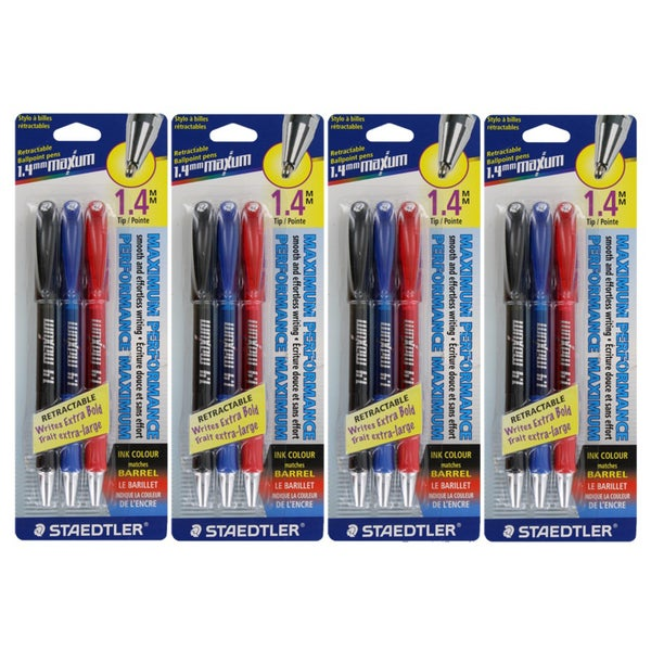 Staedtler Maxum Retractable Ball Point Pens (Pack of 12)