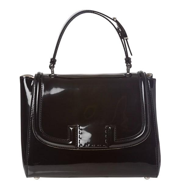f9b6ed06efd Shop Fendi Patent Leather Silvana Satchel Bag - Free Shipping Today ...