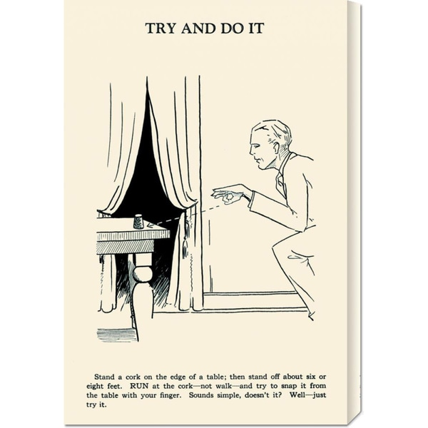 Global Gallery Retromagic 'Try and Do It' Stretched Canvas Art