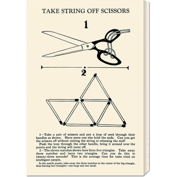 Global Gallery Retromagic 'Take String Off Scissors' Stretched Canvas Art