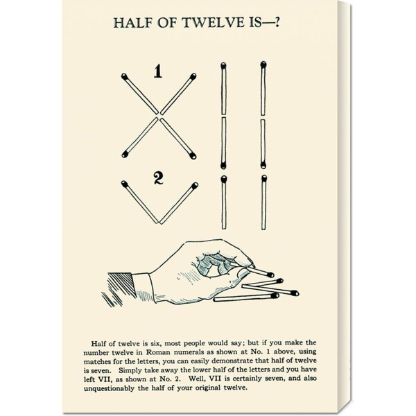 Global Gallery Retromagic 'Half of Twelve is -?' Stretched Canvas Art
