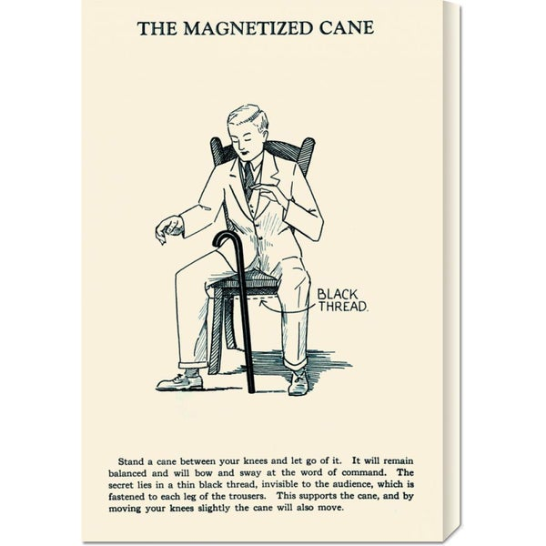 Global Gallery Retromagic 'The Magnetized Cane' Stretched Canvas Art
