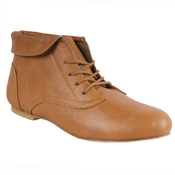 SPICY by Beston Women's 'F703-SF' Camel Brown Ankle Boots