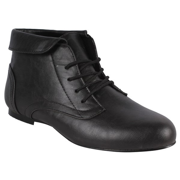 SPICY by Beston Women's 'F703-SF' Black Oxford Ankle Boots