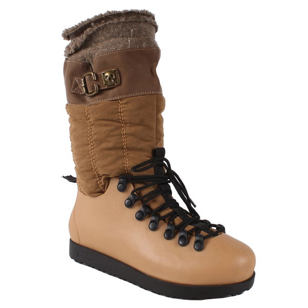 Pinky Women's 'Skyler-86' Tan Mid-calf Boots