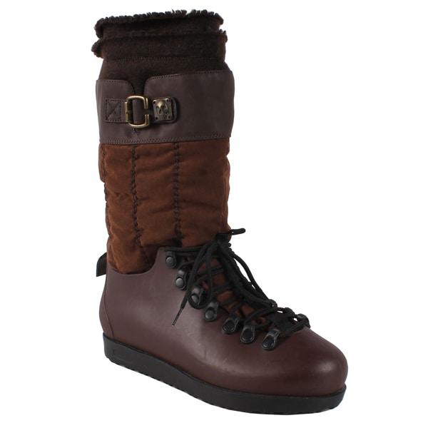 Pinky Women's 'Skyler-86' Brown Mid-calf Boots